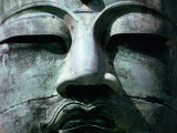 Face of Daibutsu (Great Buddha) Statue, Kamakura, Japan Photographic Print by Martin Moos