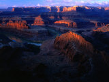 Sunrise Over Canyon, from Dead Horse Gap Canyonlands National Park, Utah, USA Photographic Print by Rob Blakers