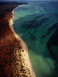 Aerial of the Shark Bay Coastline, Shark Bay, Western Australia, Australia Photographic Print by Richard I'Anson