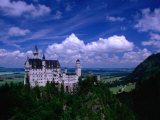 King Ludwig II&#39;s Neuschwanstein Castle and Countryside Around It, Fussen, Bavaria, Germany Photographic Print by Dennis Johnson