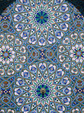 Mosaic Detail of Hassan Ii Mosque, Casablanca, Morocco Photographic Print by John Elk III