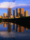 City Skyline Reflected in Yarra River, Melbourne, Australia Photographic Print by Paul Sinclair