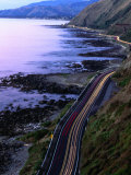 Paekakariki Road along the Kapiti Coast, Wellington, New Zealand Fotografiskt tryck av Paul Kennedy