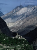 Mountains of Hunza Dwarfing Altit Fort, Altit, Pakistan Photographic Print by Richard I'Anson