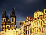 Tyn Church Amidst Houses in Old Town, Prague, Czech Republic Photographic Print by Jonathan Smith