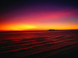 Sunset Over Mar De Cortes, Sea of Cortez, Mexico Photographic Print by Peter Ptschelinzew