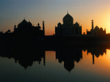 17th Century Taj Mahal Reflected in Yanuna River, Agra, Uttar Pradesh, India Photographic Print by Richard I'Anson