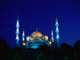 The Blue Mosque of Sultan Ahmed I and Hagia Sophia or Ayasofya, Istanbul, Istanbul, Turkey Fotografie-Druck von Izzet Keribar