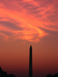 Washington Monument at Sunset Washington DC, Virginia, USA Photographic Print by Rob Blakers