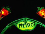 Art-Nouveau Metro Chateau d'Eau Sign, Paris, France Photographic Print by Martin Moos