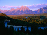 Teton Mountains from Snake River Overlook, Grand Teton National Park, Wyoming, USA Photographic Print by Gareth McCormack