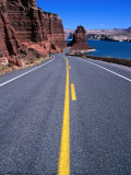 Road with Lake Powell in Distance Glen Canyon National Recreation Area, Utah, USA Photographic Print by Rob Blakers