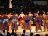 Traditional Ceremony Before Sumo Wrestling, Osaka, Japan Photographic Print by Frank Carter