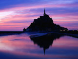 The Mont Reflected in the Bay at Dusk, Mont St. Michel, Basse-Normandy, France Photographic Print by David Tomlinson