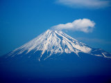 Snow Capped Mt. Fuji, Mt. Fuji, Japan Photographic Print by Frank Carter
