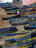 Fishing Boats on Shore, Taghazout, Tiznit, Morocco Photographic Print by Mark Daffey