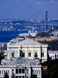 Bosphorus, Clock Tower and Dolmabahce Palace, Istanbul, Turkey Photographic Print by Izzet Keribar