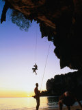 Climbers on Ton Sai Cliff, Krabi, Thailand Photographic Print by Anders Blomqvist