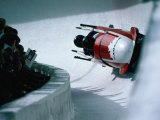 Bobsled in the Bobsleigh Bullet at Canada Olympic Park, Calgary, Canada Photographic Print by Rick Rudnicki
