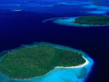 Aerial View of Vava'U Group of Islands, Tonga Photographic Print by Peter Hendrie
