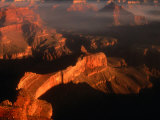 Sunlight Colours the Canyon Rims, Grand Canyon National Park, USA Fotografiskt tryck av Mark Newman