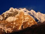 Evening Light on Annapurna I from Poon Hill on Annapurna Trek, Gandaki, Nepal Photographic Print by Gareth McCormack