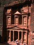 High Angle View of El Khasneh (The Treasury), Petra, Jordan Photographic Print by John Elk III