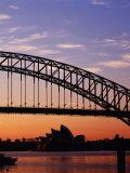 Sunrise Over Sydney Harbour Bridge and Sydney Opera House, Sydney, Australia Photographic Print by Richard I'Anson