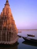 Sunken Temple of Varanasi at Sunset, Varanasi, India Photographic Print by Paul Beinssen