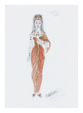 Designs for Cleopatra XXXIX Premium Giclee Print by Oliver Messel