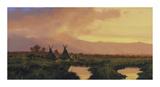 Blackfeet Sunset Premium Giclee Print by Nicholas Coleman