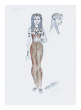 Designs for Cleopatra L Premium Giclee Print by Oliver Messel