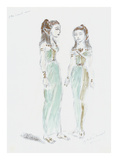 Designs for Cleopatra XLIX Premium Giclee Print by Oliver Messel