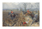 The Duke of Rutland's Hounds Premium Giclee Print by Lionel Edwards
