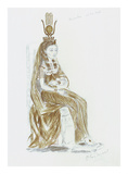 Designs for Cleopatra XXVI Premium Giclee Print by Oliver Messel