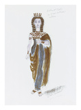 Designs for Cleopatra XXX Premium Giclee Print by Oliver Messel