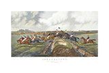 The Double, Punchestown Premium Giclee Print by John Sturgess