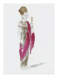 Designs for Cleopatra XXV Premium Giclee Print by Oliver Messel