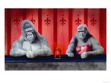 Goin Ape Down at the Monkey Bars Giclee Print by Will Bullas
