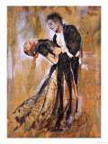 Dancing Couple V Print by Marta Gottfried