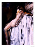 Nude Draped in White Giclee Print by Marta Gottfried