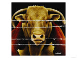 Bunch of Bull Lámina giclée por Will Bullas
