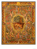 Oriental Panel with Leopard Giclee Print by John Richard
