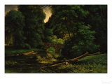 Landschaft mit Br&#252;cke Gicl&#233;e-Druck von John Richard