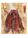 Untitled African Red Wrap Art by Marta Gottfried