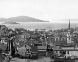 Alcatraz Island in San Francisco Bay, circa 1890 Photographie