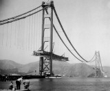 The Golden Gate Bridge During Construction Photo