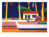 5 Canoe Beach Reproduction procédé giclée par Ian Tremewen