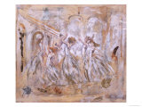 One Man Dancing with Five Women Giclee Print by Marta Gottfried