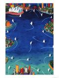 Sydney Sails Giclée-Druck von Ian Tremewen